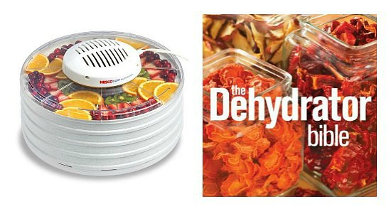 food dehydrator and book