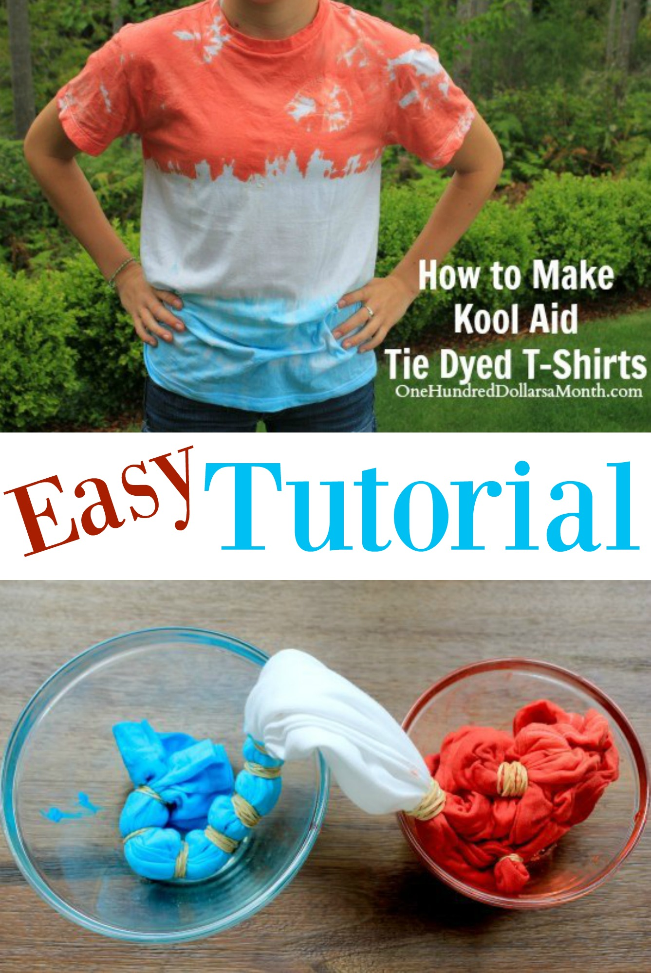 ae643463d4a4 How to Make Kool Aid Tie Dyed T-Shirts. I have a ton of Kool Aid packets  left over from my extreme couponing days