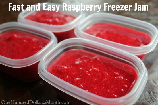 Fast and Easy Raspberry Freezer Jam