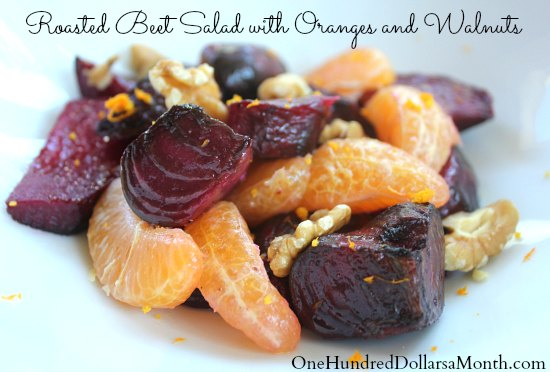 Roasted Beet Salad with Oranges and Walnuts