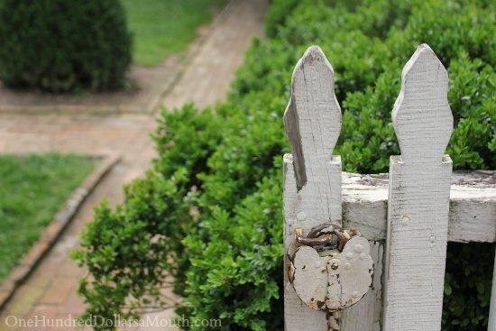 garden gate antique lock