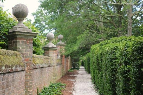 garden walkway Colonial Williamsburg, Va