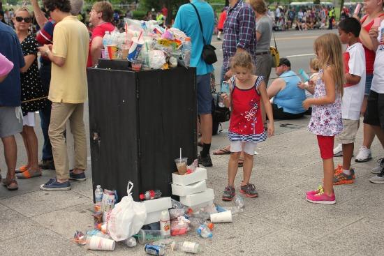 trash piled up