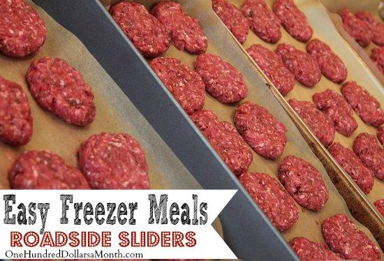 Easy Freezer Meals - Roadside Sliders