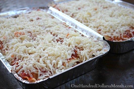 Freezer Meals Chicken and Spinach Lasagna