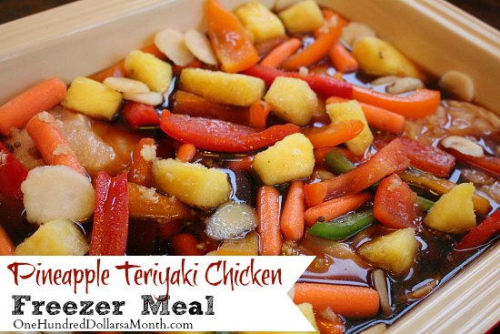 Freezer Meals - Pineapple Teriyaki Chicken
