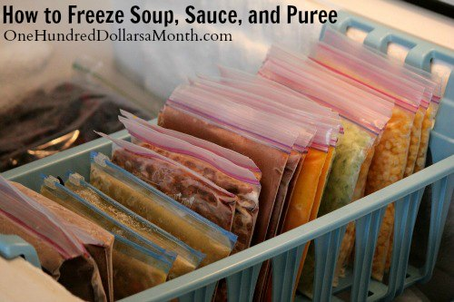 How to Freeze Soup, Sauce, and Puree