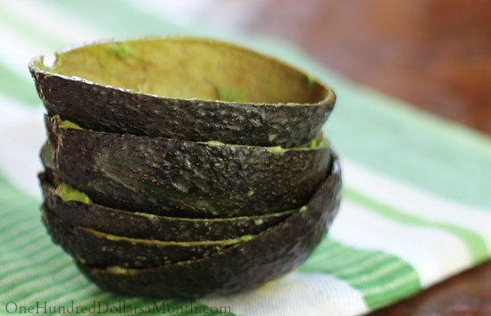 avocado peels