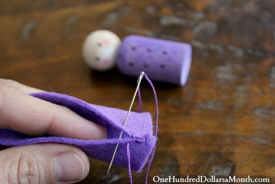 how to make a toy doll gnome hat