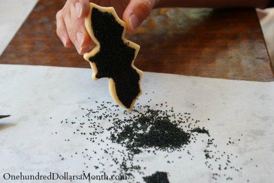 how to make bat cookies sprinkles2