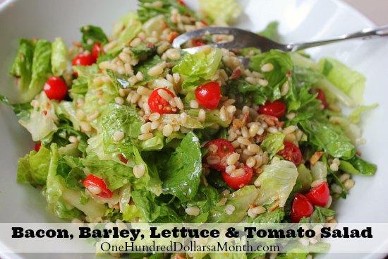 Bacon, Barley, Lettuce & Tomato Salad