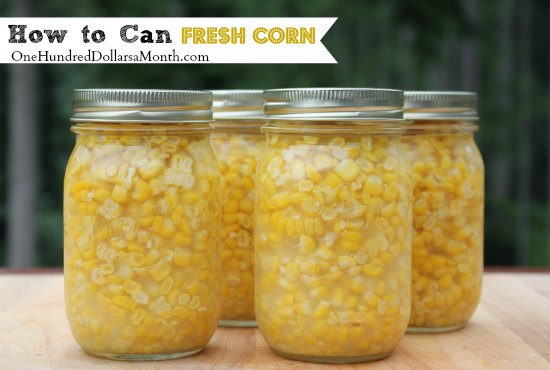 How to Can Fresh Corn