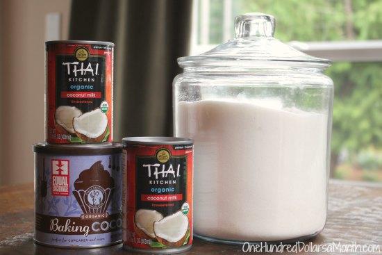 Thai Kitchen Coconut Cream vegan recipe - chocolate coconut ice cream - one hundred dollars a
