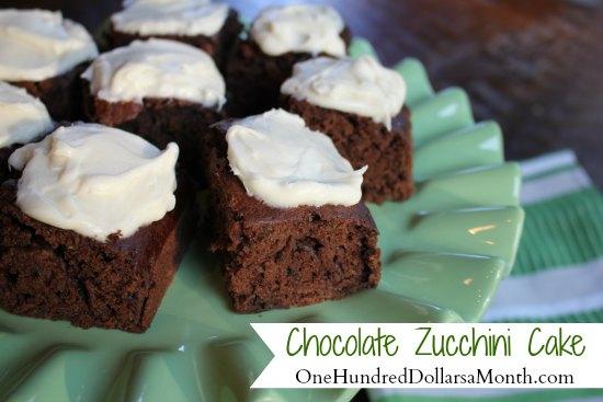 Zucchini Recipes - Chocolate Zucchini Cake