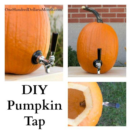 DIY Pumpkin Tap Drink Dispenser