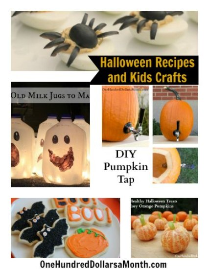 Halloween Recipes and Kids Crafts