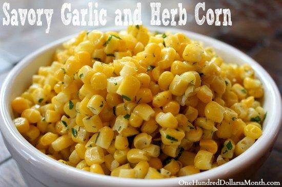 Savory Garlic and Herb Corn