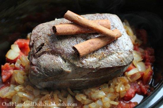 Slow Cooker Cinnamon Pot Roast