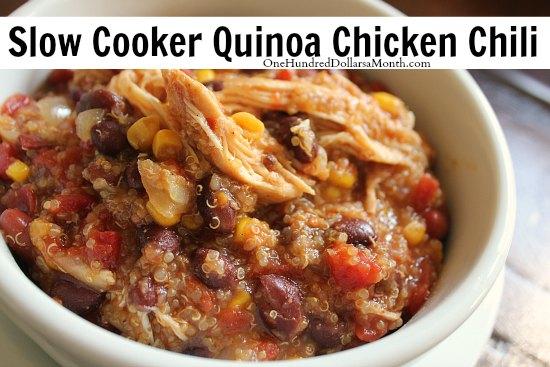 Slow Cooker Quinoa Chicken Chili