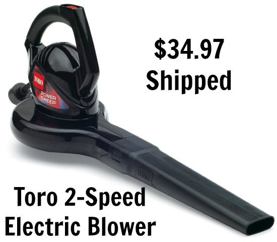 Toro 51585 Power Sweep 7 amp 2-Speed Electric Blower