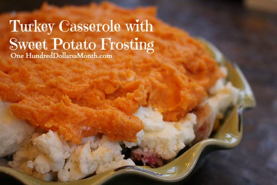 Turkey Casserole with Sweet Potato Frosting