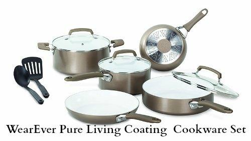 WearEver 10-Piece Ceramic Cookware Set