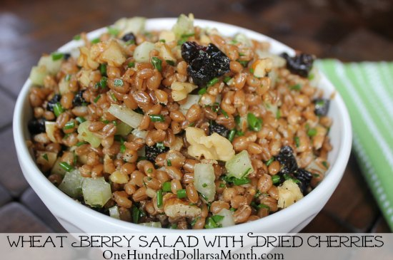 Wheat Berry Salad with Dried Cherries