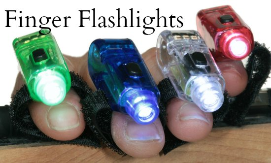 finger flashlights