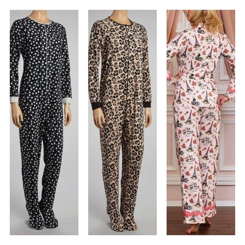 woman's footed pajamas