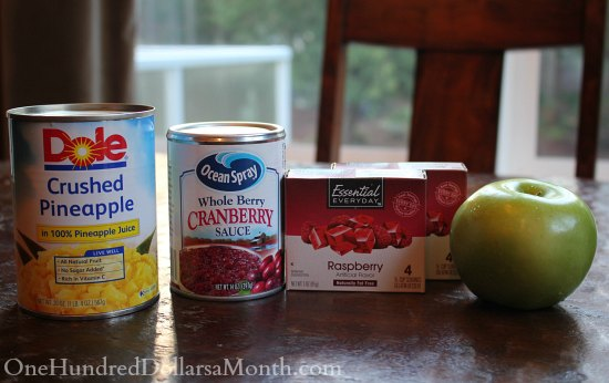 Cranberry Pineapple Jello Salad - Great with Ham or Turkey
