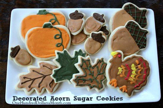 Decorated-Acorn-Sugar-Cookies