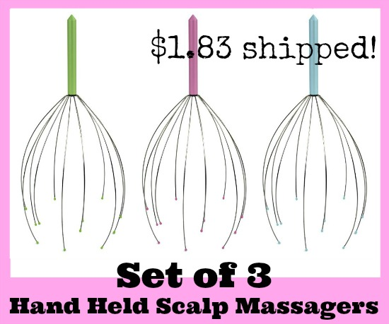 Hand Held Scalp Head Massager