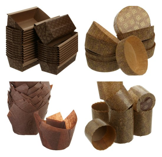 brown paper baking molds