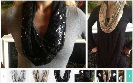 sequin infinity scarf