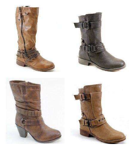 tall short brown boots