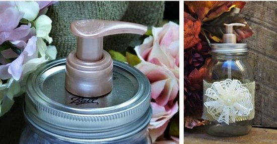 mason jar soap pump