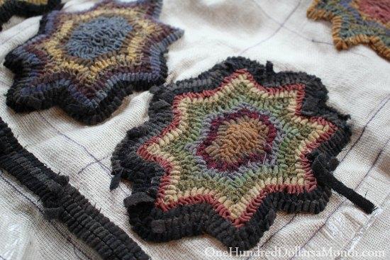 primitive folk art rug