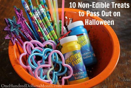 10 non edible treats to pass out on one hundred