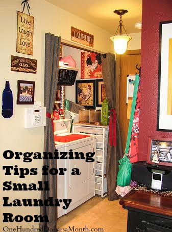 Organizing Tips for a Tiny Laundry Room