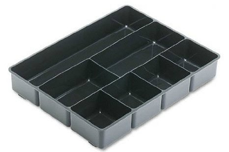 Rubbermaid Extra Deep Desk Drawer Director Tray, Plastic, 11.875 x 15 x 2.5 Inches, Black