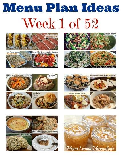 weekly meal plan menu plan ideas week 1 of 52 one hundred