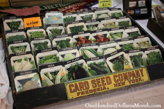 card seed company New York Vintage seed packets
