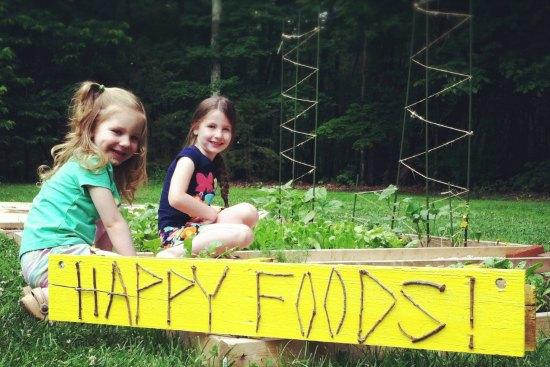 kids in garden box