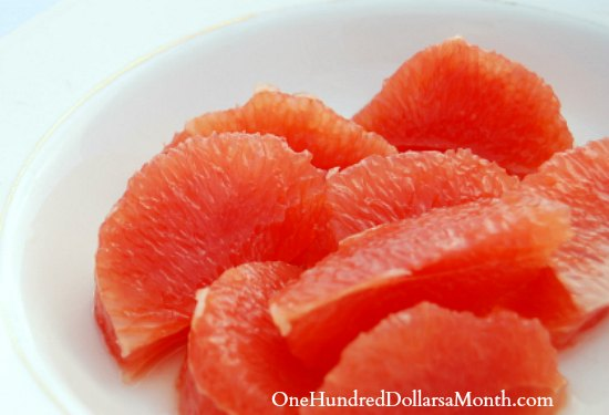 segmented grapefruit