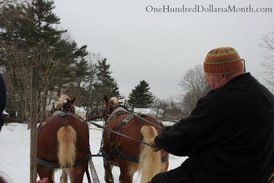 horse drawn sleigh Old Sturbridge Village New England Living History Museum