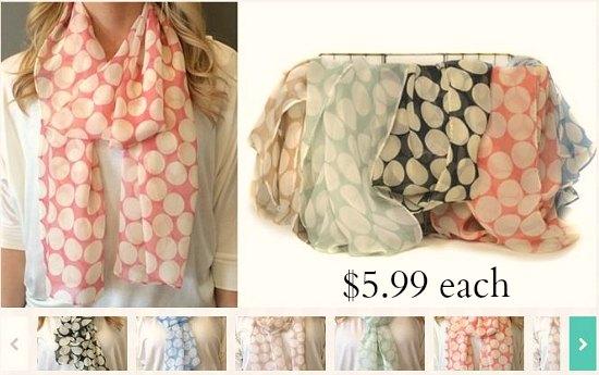 polka dot scarves