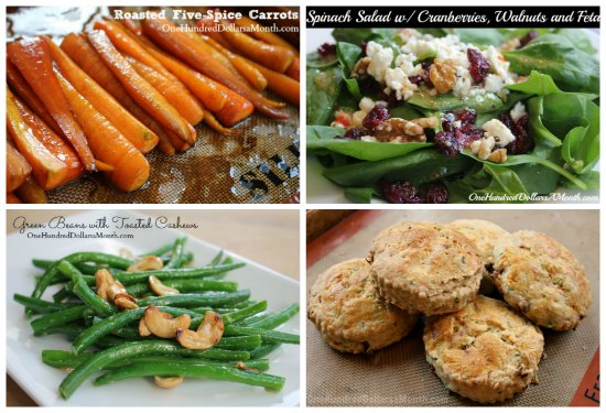 weekly menu plan vegetables