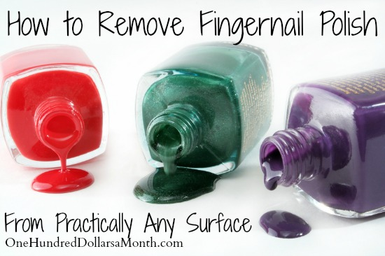 How To Remove Fingernail Polish From Practically Any Surface One