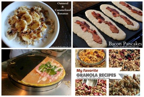 weekly menu breakfast ideas