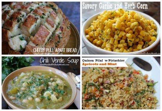 weekly menu plan ideas side dishes